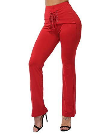 37ab3bb56d6fb FITTOO Women High Waist Boot Cut Yoga Pants Ladies Stretch Softy Trousers  Pilates Workout Gym leggings