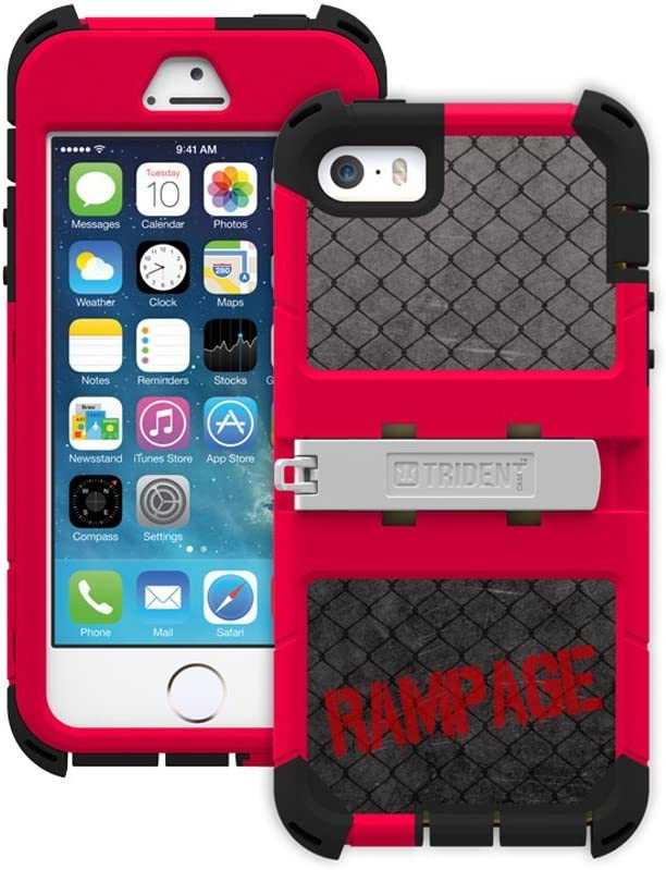 Trident Case Kraken A.M.S. Series for Apple iPhone 5/5S - Retail Packaging - The Ultimate Fighter Rampage Edition – Red