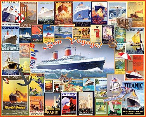 Cruise Collage (White Mountain Puzzles Bon Voyage - 550 Piece Jigsaw Puzzle)