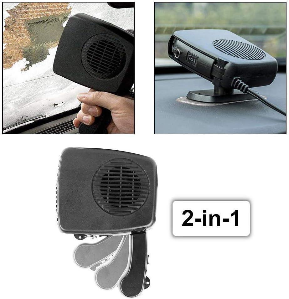schnelles Aufheizen SXJHMY Auto-Heizl/üfter 24V Demister ger/äuscharm Auto-Heizer-Defroster-Fenster tragbarer Heizl/üfter 150W einfaches Abtauen