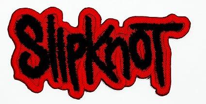 amazon com mnc patch red slipknot music band heavy metal punk rock