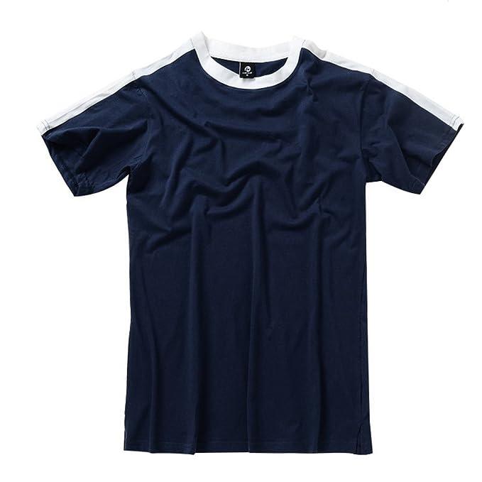 Baymate Moda Vintage Camiseta Hombre de Verano Manga Corta Round Collar Suelto Tops Camisa JbnUEC8Q04