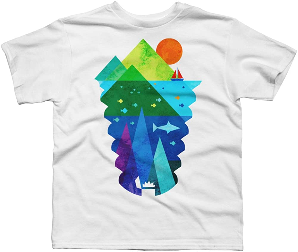 Design By Humans Sunken Treasure Boys Youth Graphic T Shirt
