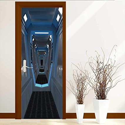 Amazon.com: LiHomecurtain Art Decor 3D Door Wall Mural ...