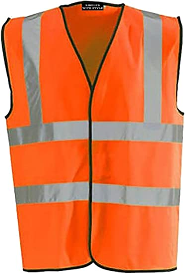 HI VIS YELLOW HIGH VIZ VISABILITY WAISTCOAT SAFETY VEST JACKET EN471 WORK SIZE