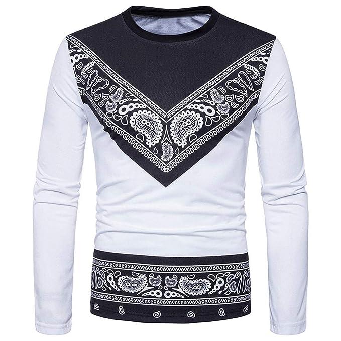 Bestow Moda para Hombre Slim Fit Camiseta Casual Camiseta Camisetas de Manga Larga Tops Invierno: Amazon.es: Ropa y accesorios