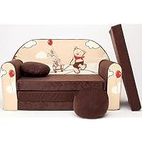 Canapé bebe enfant multifunction sofa lit 2en1 (160x98cm)