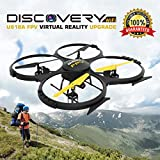Force1 UDI U818A Wifi FPV Drone with HD Camera, Remote Control, VR Headset and Power Bank