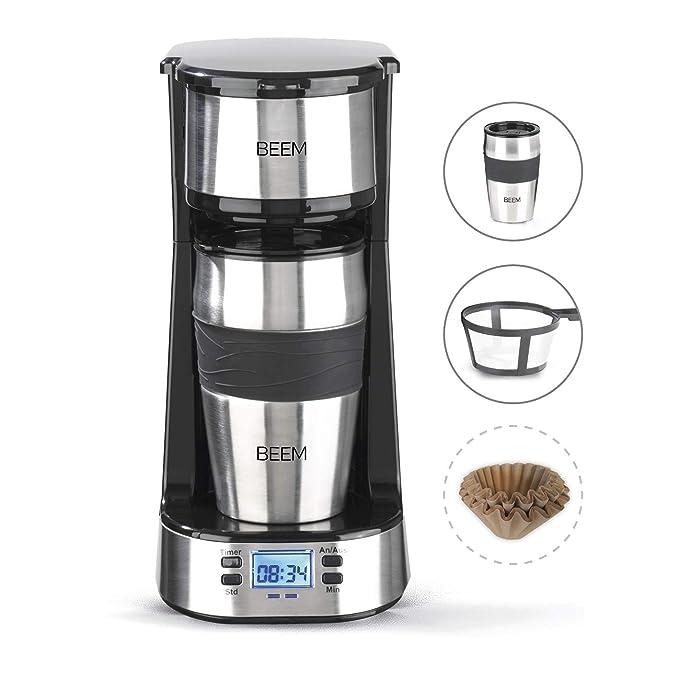 Beem Single de filtro cafetera eléctrica 1510sr de Elements of coffee & Tea, 750 W, filtro permanente, temporizador de 24 h, acero inoxidable: Amazon.es: ...