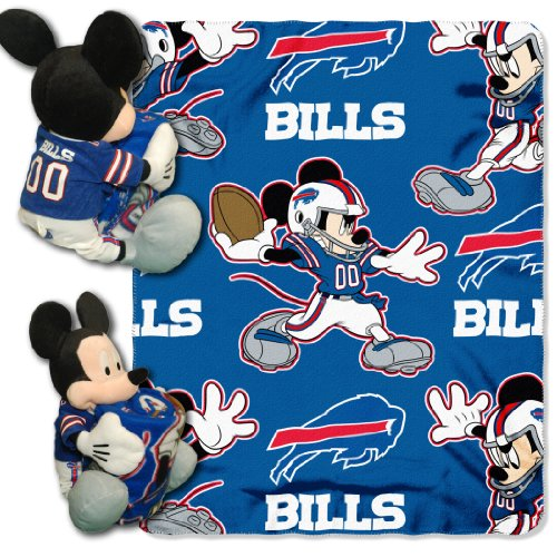 Northwest Nfl Buffalo - The Northwest Company Officially Licensed NFL Buffalo Bills Co-Branded Disney's Mickey Hugger and Fleece Throw Blanket Set