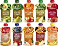 Happy Baby Clearly Crafted Stage 2 Organic Baby Food 10 Flavor Variety Sampler (Pack of 10)