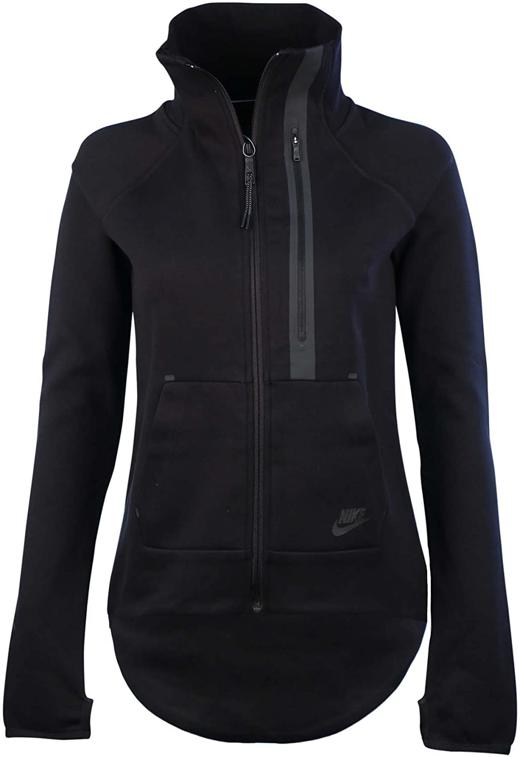 NIKE Women's Tech Fleece Moto Cape Jacket, Black, Small