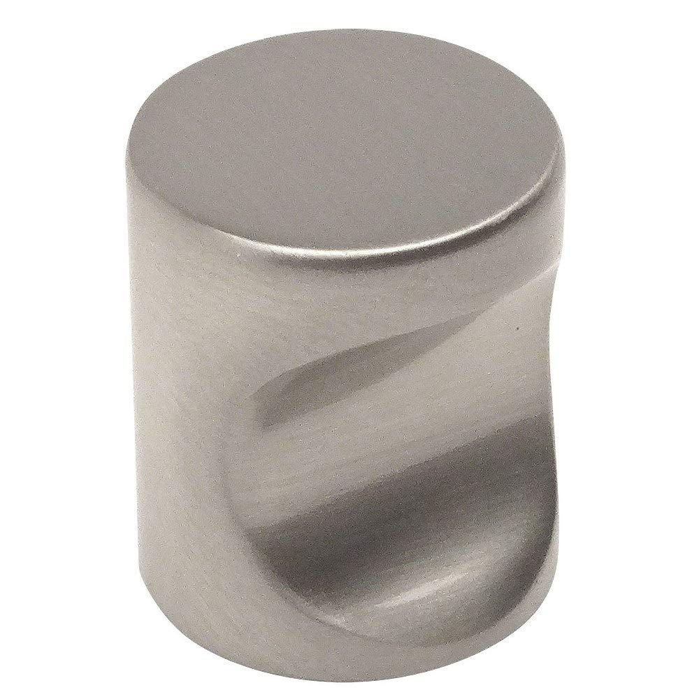 "10 Pack - Cosmas 3312SN Satin Nickel Contemporary Cabinet Hardware Finger Pull - 3/4"" Diameter"