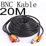 BW® 20 Meter CCTV BNC Video and Power Cable Extension Lead 20M - Cable type: 0.2mm² , Cable OD: 4.0mm