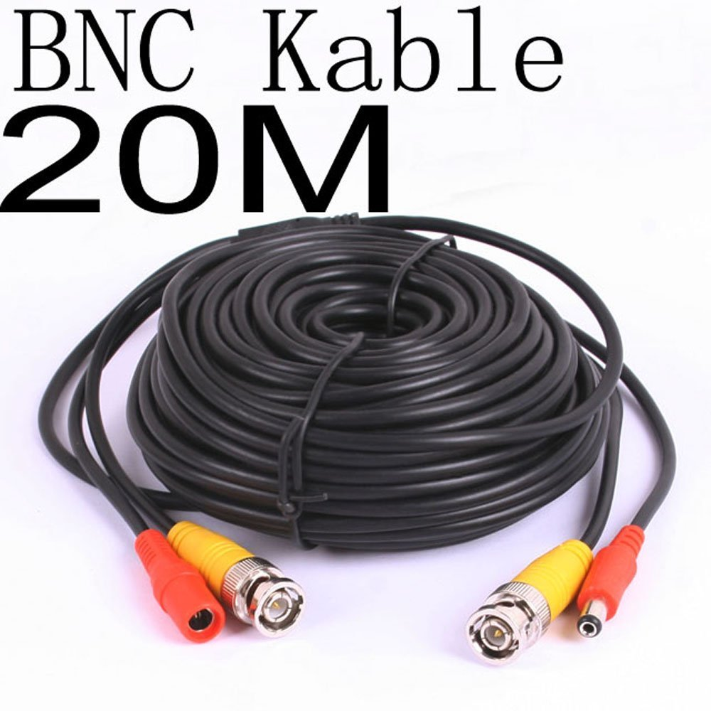 Bw 20 Meter Cctv Bnc Video And Power Cable Extension Wiring For Home Electronics