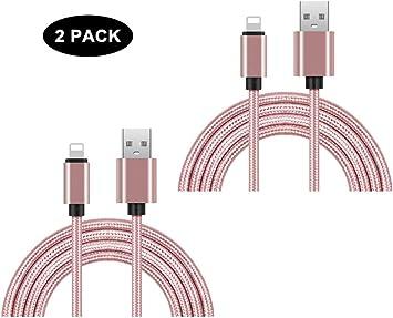 Cable Cargador de Teléfono, Paquete de 2 Cables de Carga y ...