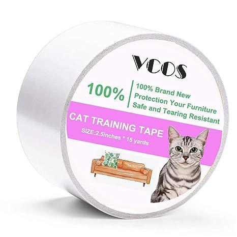 VCOS - Cinta Adhesiva de Doble Cara antiarañazos para Gato y ...