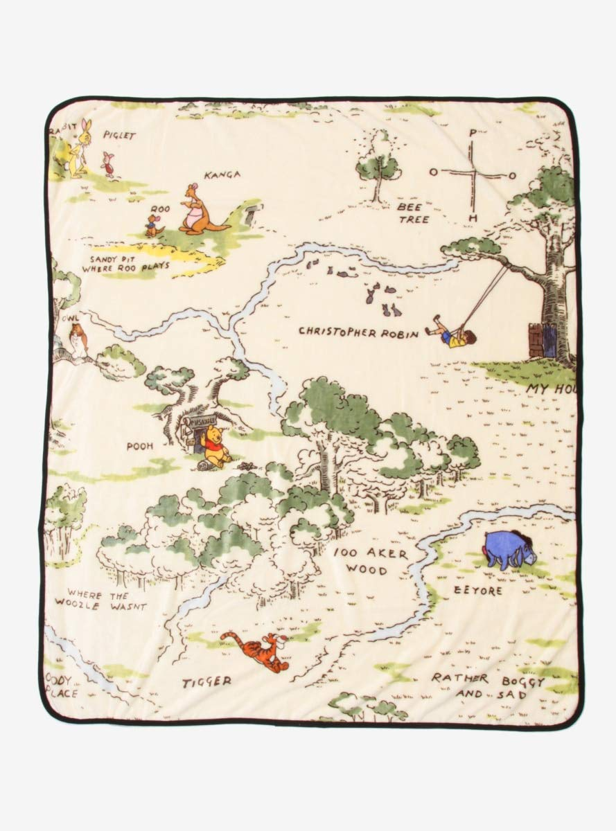 Disney Winnie The Pooh Hundred Acre Wood Throw Blanket by Hot Topic