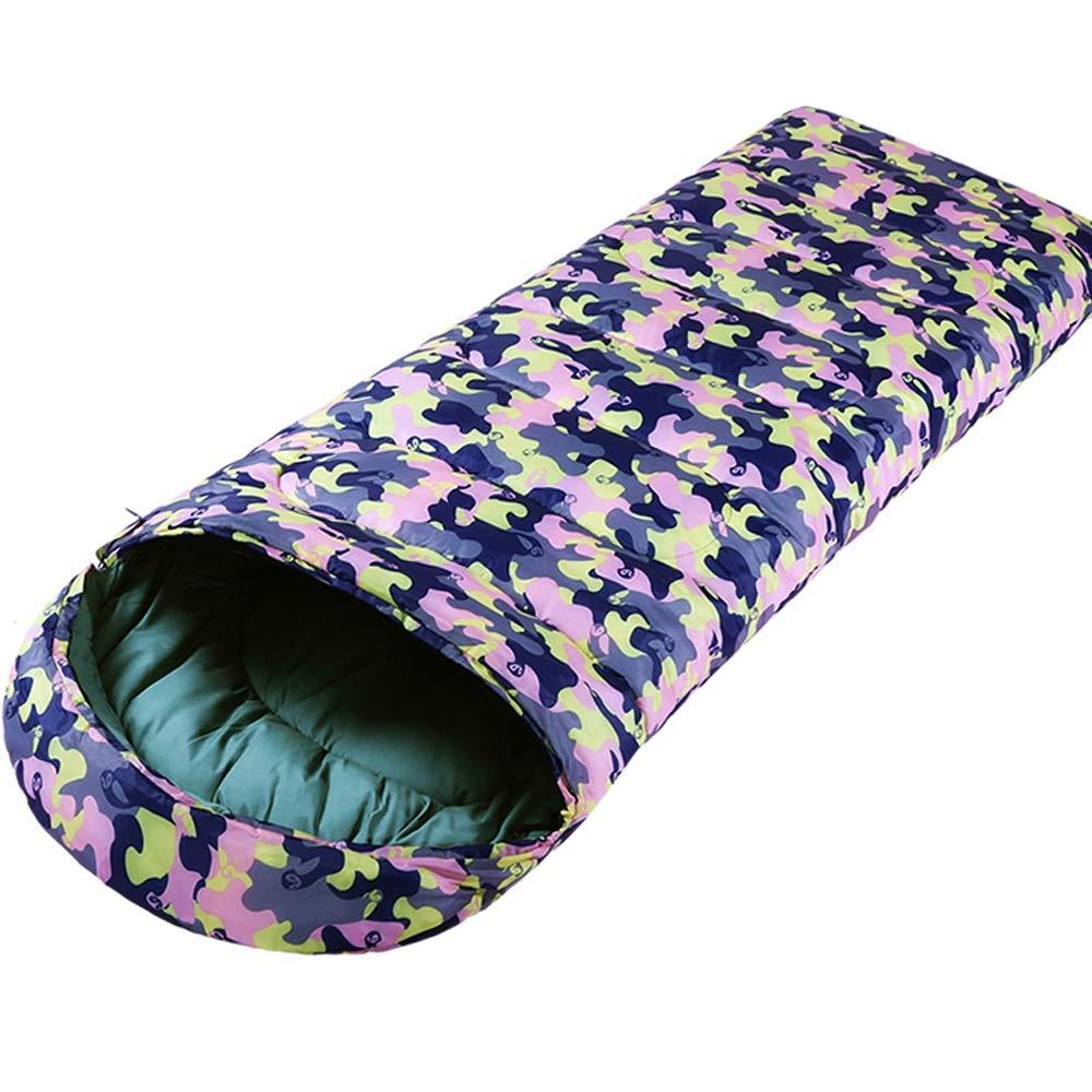 Schlafsack - 190T wasserdichtes Polyester-Spinning, Outdoor-Camouflage-Camping-Baumwollschlafsack für Erwachsene, geeignet für  Mittagspause im Innenbereich, Outdoor-Aktivitäten - 3 Farben und 2 Stärk