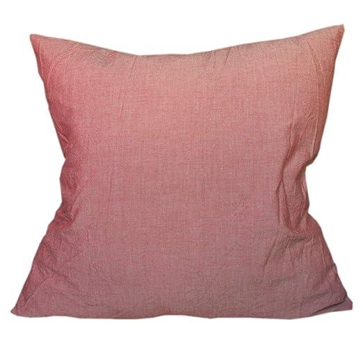 Lavar algodón manta fundas de almohada de color sólido ...