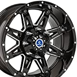 20x10 Wheel Fits 8 Lug GM Trucks & SUVs - Black Rim w/Mach'd Face - Sinister 4Play Wheel