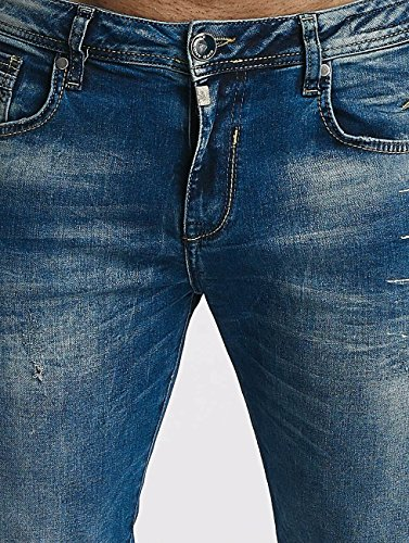 Azul Jamie ajustado Jeans Cipo Baxx Hombres Vaqueros amp; IcwqYB0YF