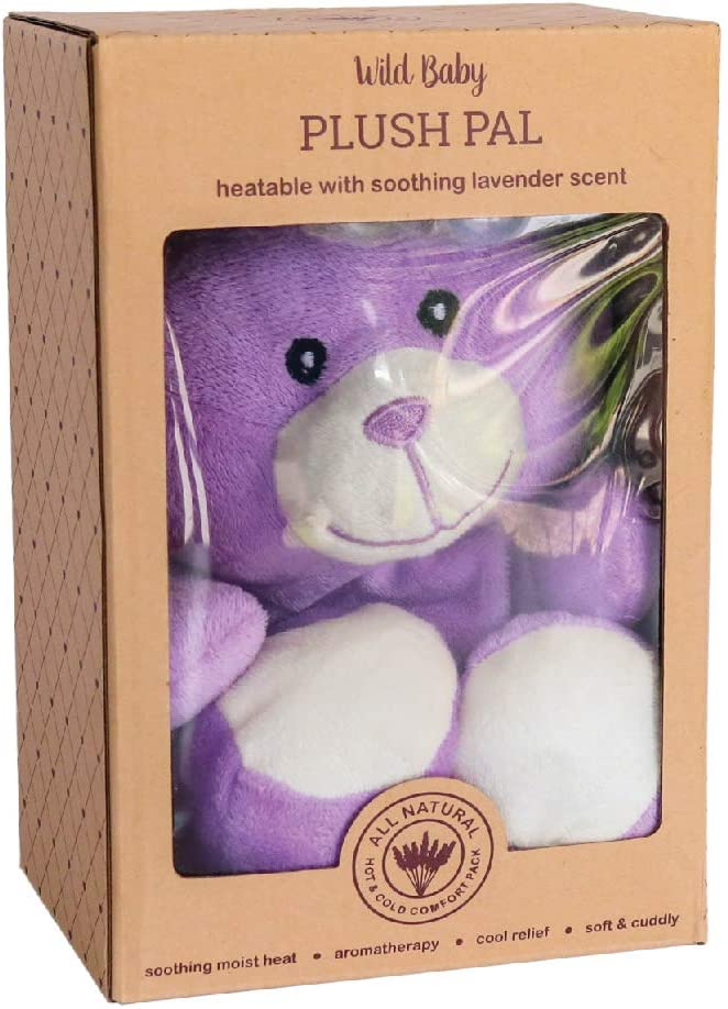 Cozy Heatable Weighted Stuffed Animal with Aromatherapy Lavender Scent 10 Purple Bear WILD BABY Microwavable Plush Pal
