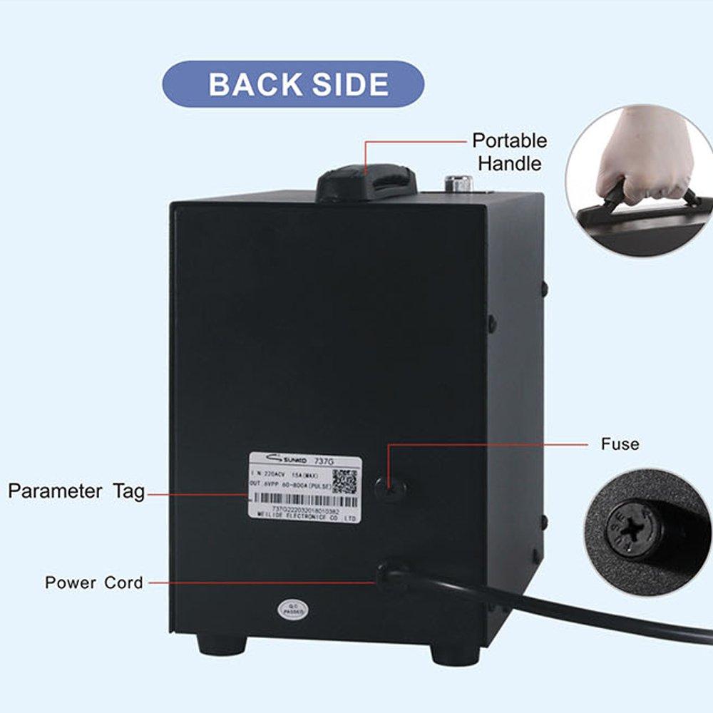 KKmoon Soldador dual del punto de la batería del pedal del modo Dual soldador dual del punto de la soldadura de la pantalla del doble pulso de la exhibición ...