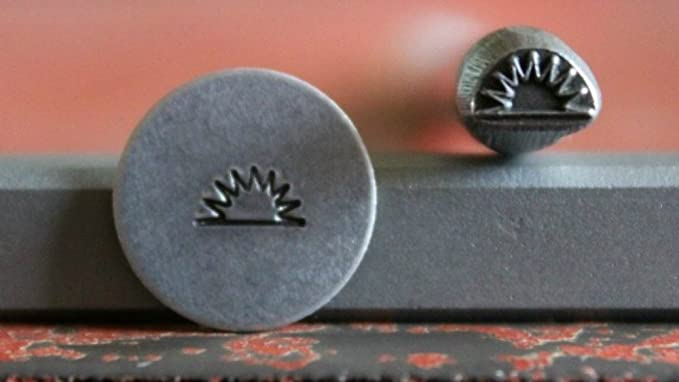 Made in the USA SUPPLY GUY 5mm Moon//Star Metal Punch Design Stamp SGA-47