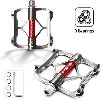 Pedales de bicicleta CYCPLUS, 3 rodamientos Pedales de bicicleta ...
