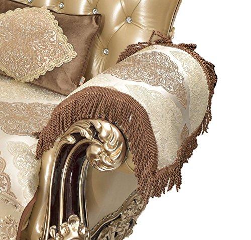 "Sideli European Sofa Protector Non-Slip Sofa Pad Fabric Lace Sofa Cover Sold by Piece Custom Size Accept (2pcs arm Cover- 20""x24"", ()"