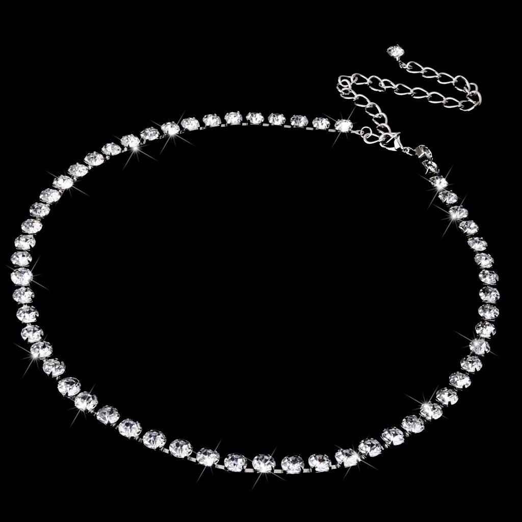 Dolity 65-100cm Moda Cinture di Strass Monili per Donna Sposa