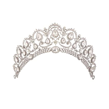 Shuda - Tiara de novia con perlas huecas y diamantes de ...