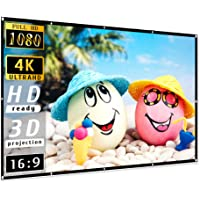 Projector Screen 100 inch, Taotique 4K Movie Projector Screen 16:9 HD Foldable and Portable Anti-Crease Indoor Outdoor…