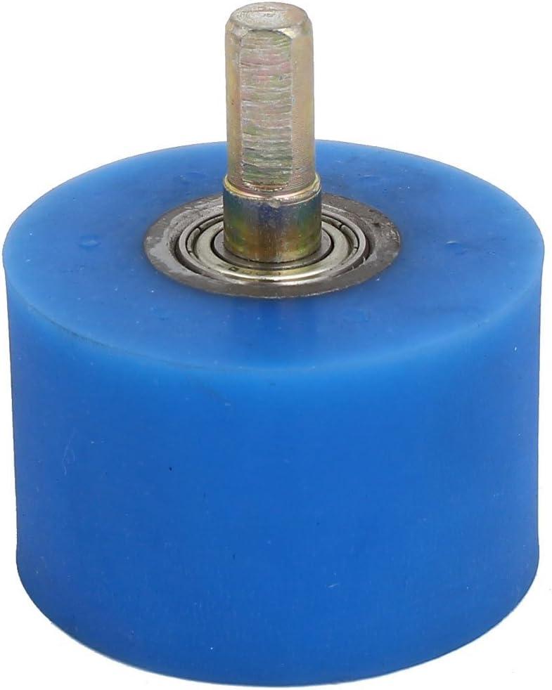 Arbre 10mm diam/ètre 60mm x 40mm Rev/êtement Machine Roue en Caoutchouc Silicone Bleu Rouleau