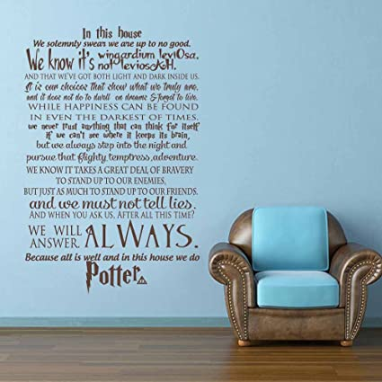 Harry Potter Wall Decal Quote In This House We Do Home Decor Hogwarts Vinyl Wall Sticker & Harry Potter Wall Decal Quote In This House We Do Home Decor ...
