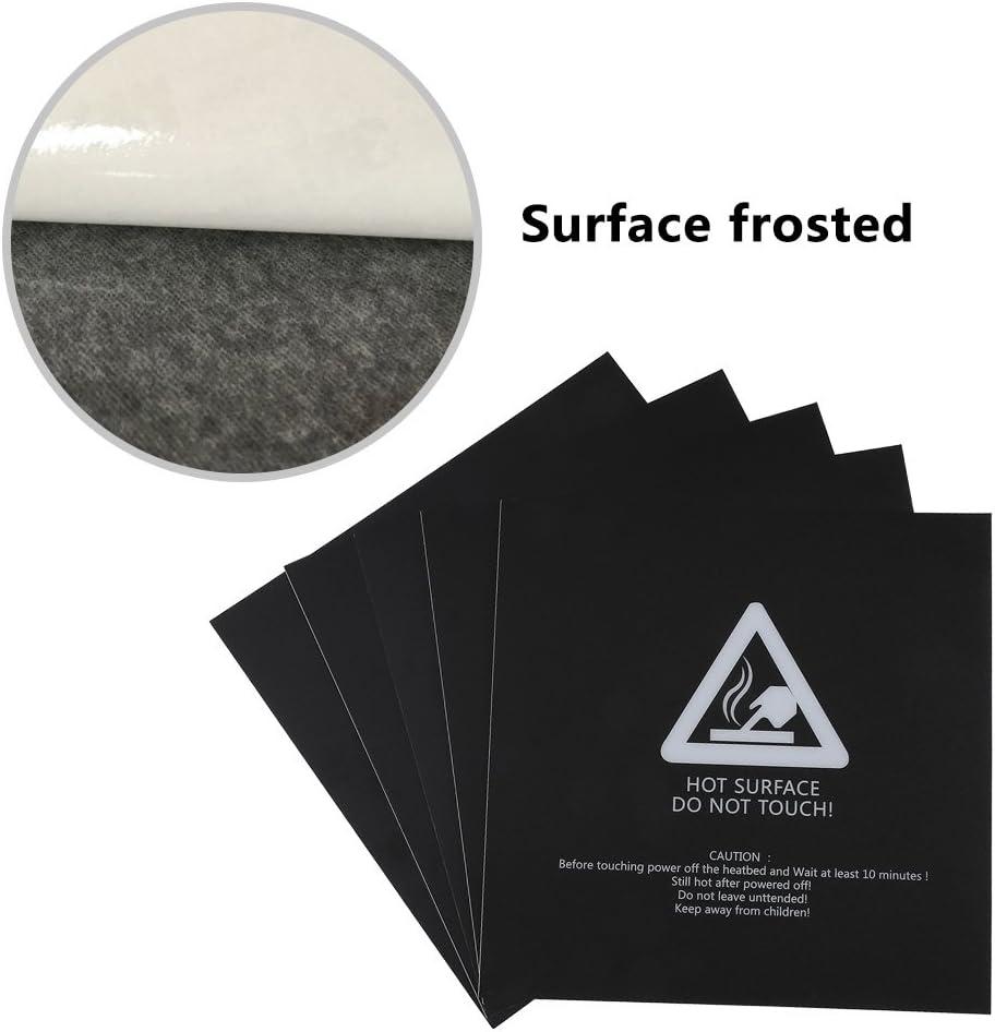 5Pcs 3D Printer Heat Bed Platform Stickers,220x220mm
