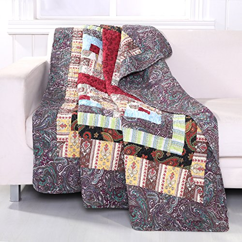Greenland Home Colorado Lodge Quilted Patchwork Throw