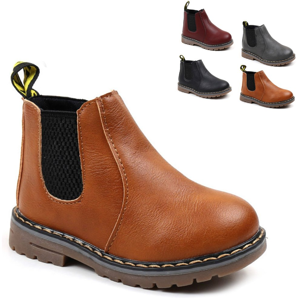 Save Beautiful Baby Kids Boots Girl Boy Shoes Rain Hiking Winter Snow Boots (11 M US Little Kid, Brown)