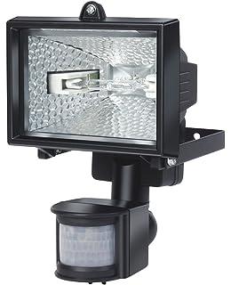 Electraline 63004 - Proyector halógeno con sensor de movimiento (IP44, 1500 lúmenes, 120