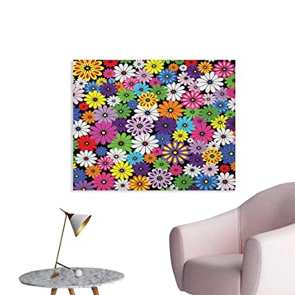 Amazon com: Anzhutwelve Flower Wallpaper Floral Vivid Pattern with