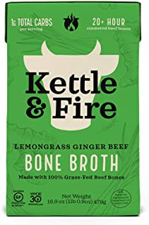 product image for KETTLE & FIRE Bone Broth Soup, Pho Lemongrass ginger Beef, 16.9 Oz (Package may vary)