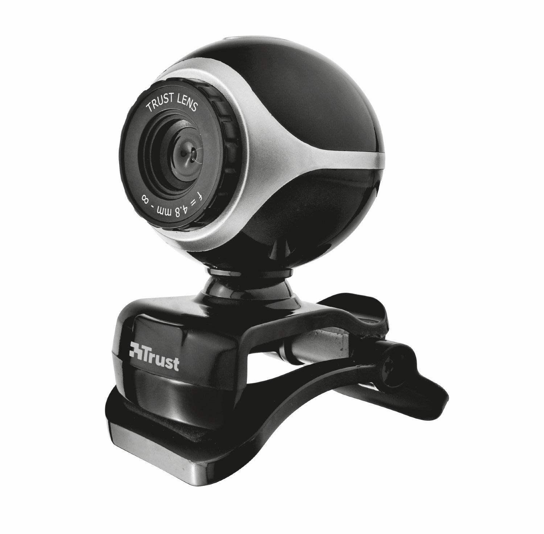 Trust exis webcam for pc, laptop black/silver: amazon. Co. Uk.