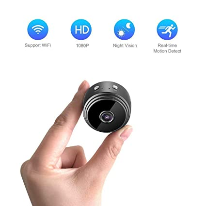 b92027f3d322 Hide Camera Wearable HD 1080P Mini Portable Home Security Cameras Covert  Nanny Cam Indoor Video Recorder