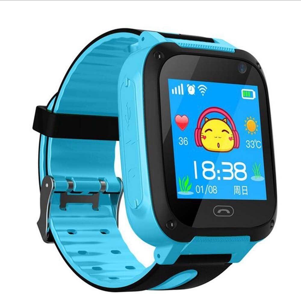 Smart Watch Baby Reloj GPS w/Wifi Pantalla táctil SOS Llamada Ubicación Kid Safe (Blue)
