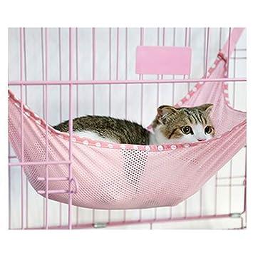 Amazon.com: Hamaca de cama para gatos o gatos, de malla ...