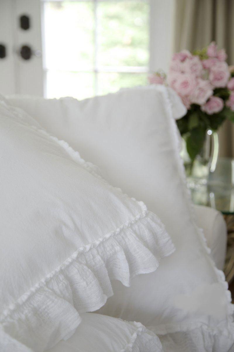 Piubelle Ruffled King Duvet Comforter Quilt Cover 3pc Set  100/% Cotton Shabby Chic Piu belle French Style Frilled Duvet Cover White King
