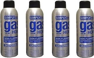 4 Botellas rellenables, para Simply Fanfarrias de aire comprimido, sapos, bocinas, de acuerdo con la legislación de la UE, muy respetuosas con el medio ambiente 120 db de acuerdo con la legislación de la UE