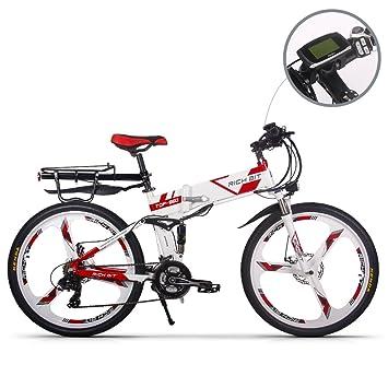 RICH BIT Eléctrico Bicicleta Actualizado RT860 36V 12.8Ah Batería de Litio plegable bicicleta MTB montaña