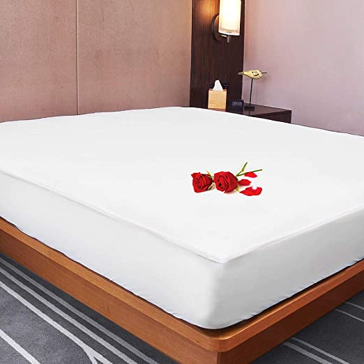 """Waterproof Mattress Pad Protects Top and Bottom Sheets Blanket 60/""""h x 36/""""w 24/""""w"""